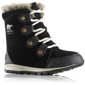Sorel Youth Whitney Suede Boots Black/Dark Stone